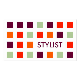 STYLIST (mod squares) Double-Sided Standard Business Cards (Pack Of 100)