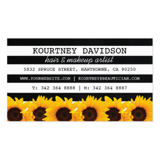 STYLIST SUNFLOWER MAKEUP & HAIR STYLIST PACK OF STANDARD BUSINESS CARDS