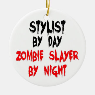 Stylist Zombie Slayer Christmas Ornament