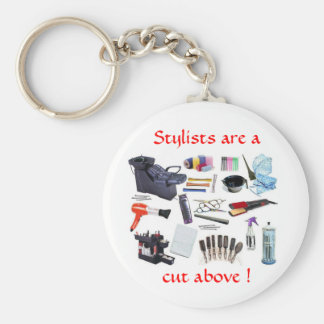 Stylists are a, cut above - keychain