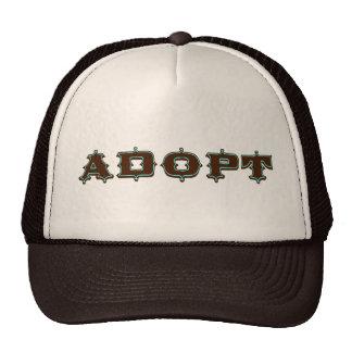 Stylized Adopt Design Mesh Hat