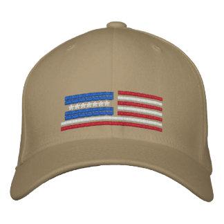 Stylized American Flag Design Baseball Cap