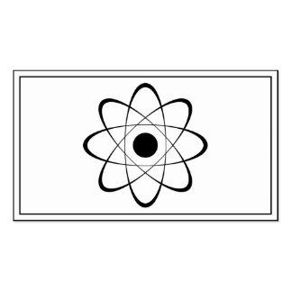 Stylized Atom Symbol Business Card