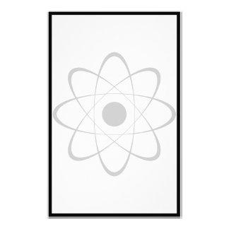 Stylized Atom Symbol Personalized Stationery