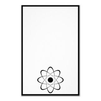 Stylized Atom Symbol Stationery Paper