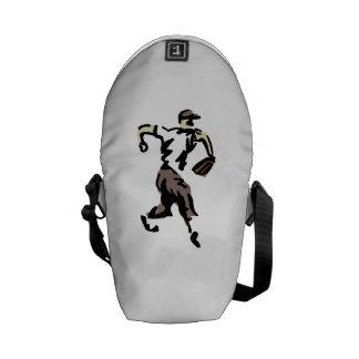 Stylized Baseball Pitcher Messenger Bag