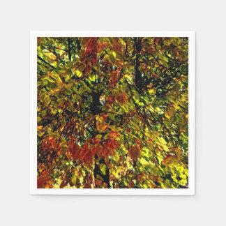 Stylized Beautiful Tree Painting Paper Napkin