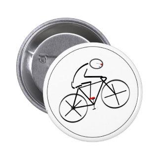 Stylized Bicyclist Design 6 Cm Round Badge