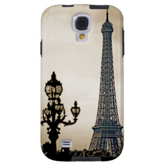 Stylized Black & white image of the Eiffel Tower Galaxy S4 Case