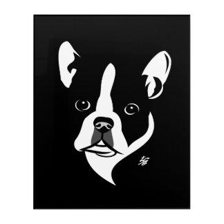 Stylized Boston Terrier Dog Art