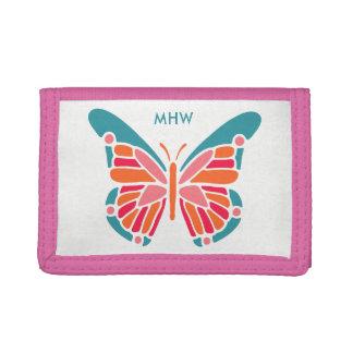 Stylized Butterfly custom monogram wallets