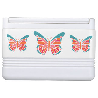 Stylized Butterfly custom name cooler Igloo Cooler