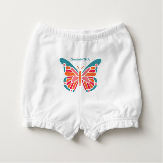 Stylized Butterfly custom name diaper bloomers Nappy Cover
