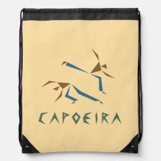 Stylized Capoeira Drawstring Bag