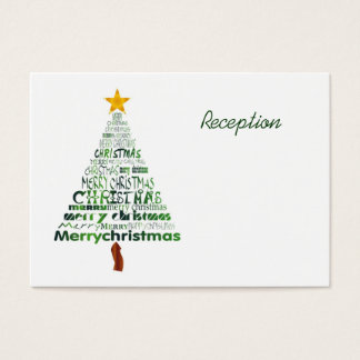 Stylized Christmas Tree Reception Cards