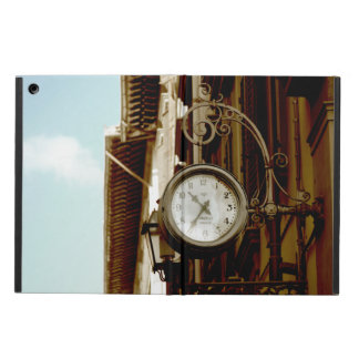 Stylized colour image of vintage clock in Florence Case For iPad Air