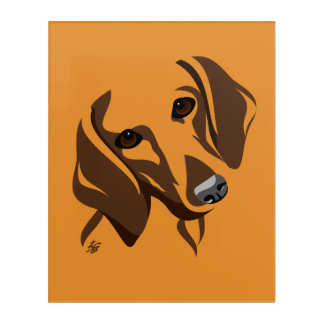 Stylized Dachshund Dog Art