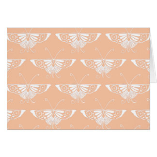 Stylized Deco butterfly  - soft peach Greeting Cards