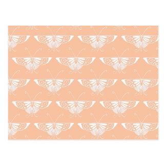 Stylized Deco butterfly  - soft peach Postcard