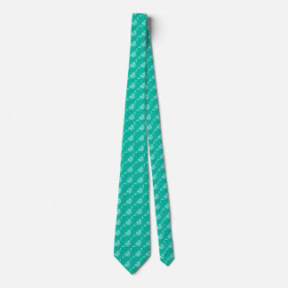 Stylized Deco butterfly  - turquoise and aqua Tie