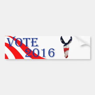 Stylized Democrat Donkey Symbol Bumper Sticker
