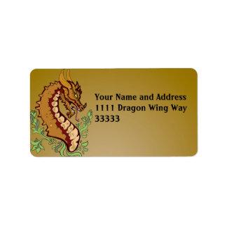 Stylized Dragon Label