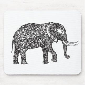 Stylized Fantasy Elephant Doodle Mouse Mat