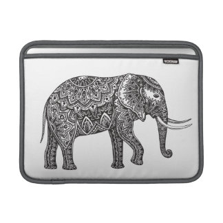 Stylized Fantasy Elephant Doodle Sleeve For MacBook Air