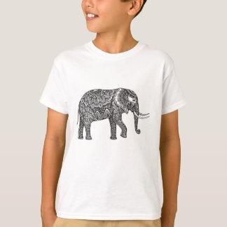 Stylized Fantasy Elephant Doodle T-Shirt