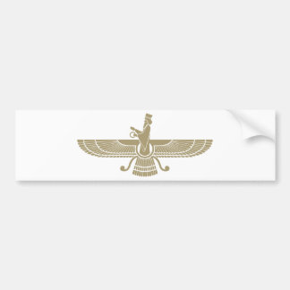 Stylized Faravahar Bumper Sticker