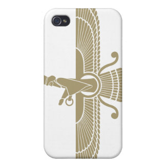 Stylized Faravahar iPhone 4 Cases