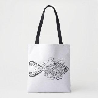 Stylized Fish 2 Tote Bag