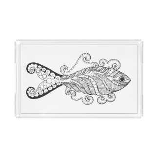 Stylized Fish Acrylic Tray