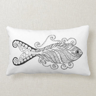 Stylized Fish Lumbar Cushion