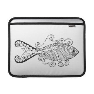 Stylized Fish Sleeve For MacBook Air