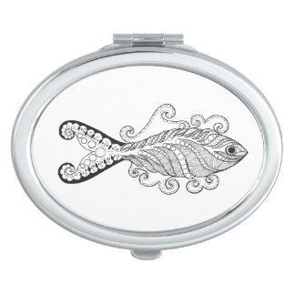 Stylized Fish Vanity Mirror