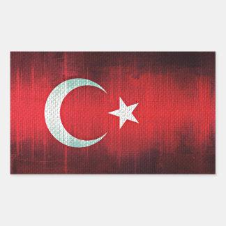 Stylized Flag of Turkey Rectangular Sticker