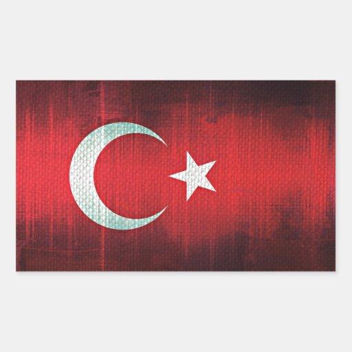 Stylized Flag of Turkey Stickers