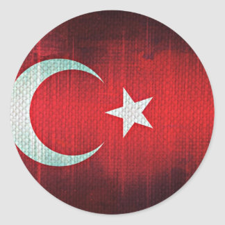 Stylized Flag of Turkey Round Sticker