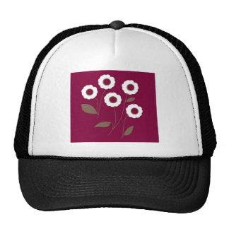Stylized Flowers, on customizable products. Cap