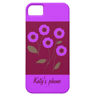 Stylized Flowers, on customizable products. iPhone 5 Cover