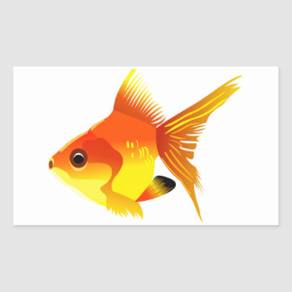 Stylized Goldfish Rectangular Sticker