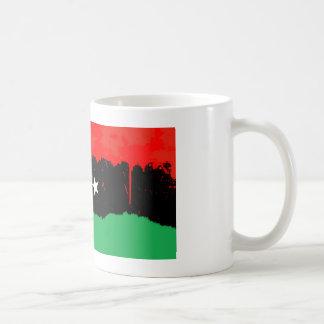 Stylized Kingdom of Libya Flag Basic White Mug