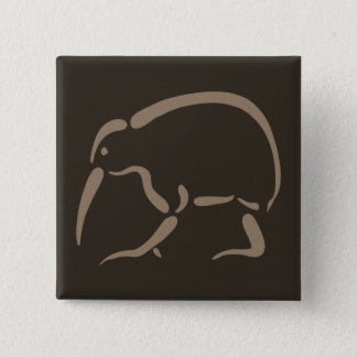 Stylized Kiwi 15 Cm Square Badge