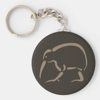 Stylized Kiwi Key Ring