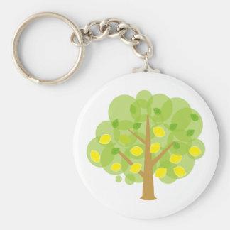 Stylized Lemon Tree Keychains