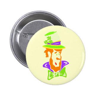 Stylized Leprechaun Button