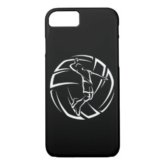 Stylized Male Volleyball Player with Ball iPhone 8/7 Case