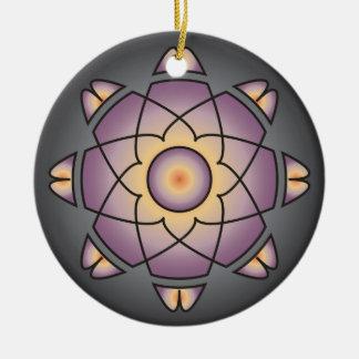 Stylized Mandala Round Ceramic Decoration