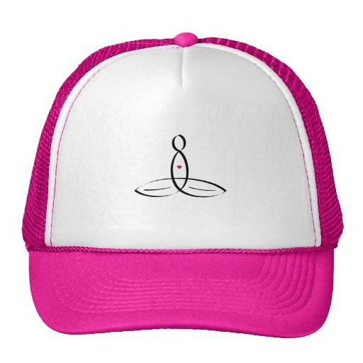 Stylized meditator hats
